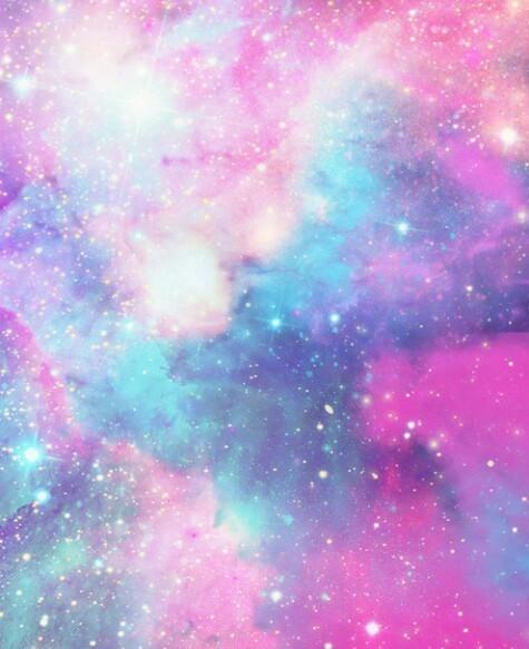 galaxy, pink, and stars image