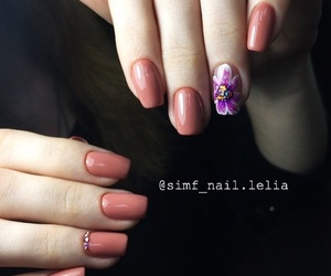 beautiful, flower, and nail image
