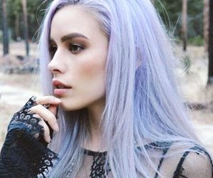 hair, girl, and lavender image