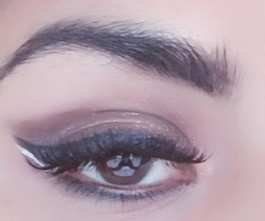 girls, lashes, and eye brown image