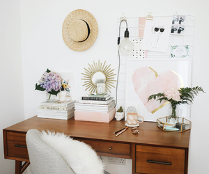apartment, desk, and home office image