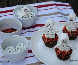 Halloween, cupcake, and autumn image
