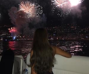 girl, fireworks, and baddie image