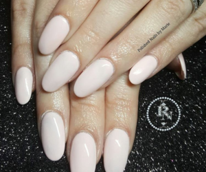 nails, oval, and pink image