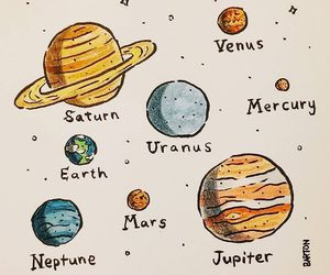astronomy, planets, and cute image