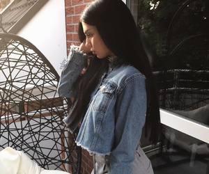 brunette, long hair, and tumblr girls image
