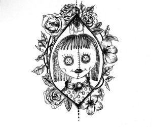 art, doll, and drawing image