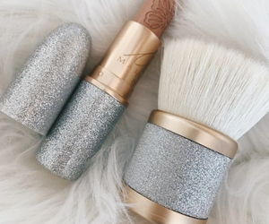 tumblr, makeup brushes, and glitter image