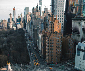 Central Park, columbus circle, and manhattan image