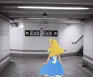 alice, exit, and disney image