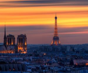 paris, sunset, and europe image