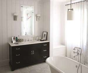 bathroom, interior, and lampa image