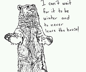 bear, drawing, and mood image