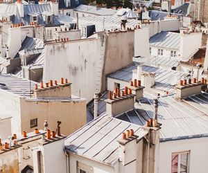 architecture, paris, and rooftop image