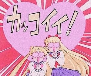anime, sailor moon, and heart image