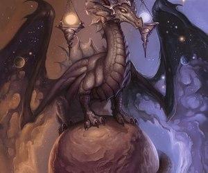 autumn, dragon, and Libra image
