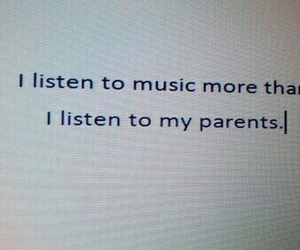 music, parents, and quotes image