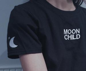 moon, grunge, and black image