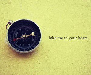 heart, compass, and quote image