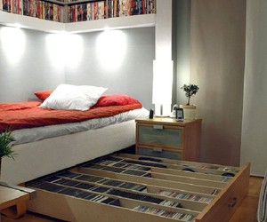 bed, bedroom, and rack bed image