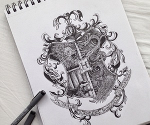 art, drawing, and harry potter image