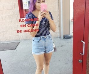 hair color, violet hair, and iphone6plus image