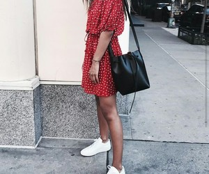 dress, girl, and sneakers image