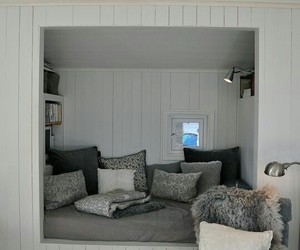 bed, interior, and creativity image
