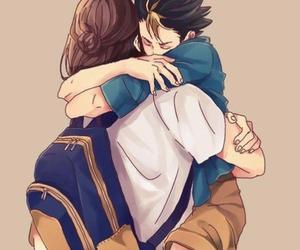 asahi, hug, and cute image