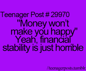 money, teenager post, and funny image