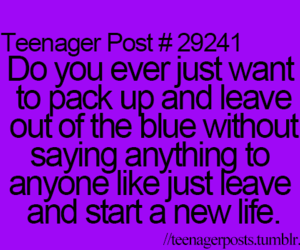 teenager post, leave, and life image