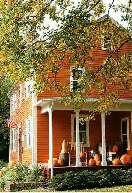 autumn and farmhouse image