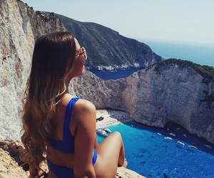 girl, Greece, and summer image
