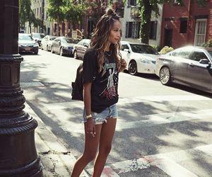 denim shorts, fashion, and grunge image