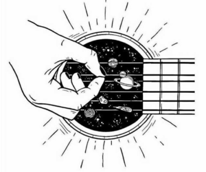 guitar, music, and space image