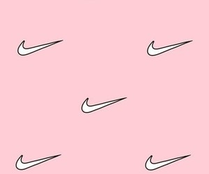 pink, wallpaper, and nike image