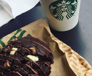 muffin, starbucks, and coffee o'clock image