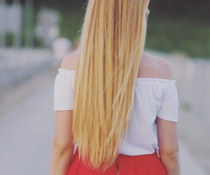 blonde, straight, and hair image