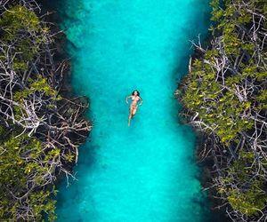 blue, girl, and landscape image