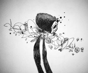 illustration, white, and art image