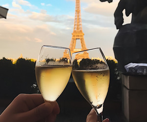 paris, wine, and drink image
