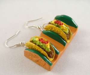 earrings, jewellery, and tacos image
