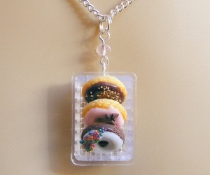 donuts, jewellery, and necklace image