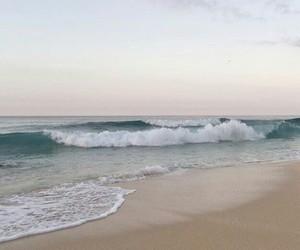 sky, beach, and ocean image