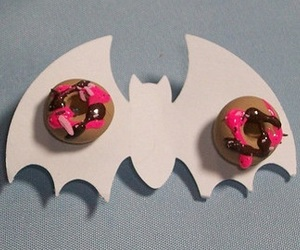 adorable, earrings, and donut image