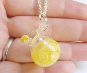 lemonade, miniature, and necklace image