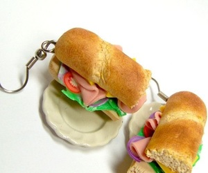 earrings, miniature, and sandwiches image