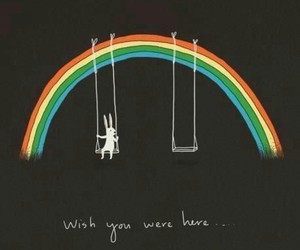 rainbow, wish, and Pink Floyd image