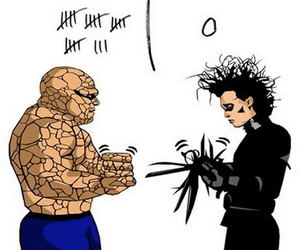 funny, edward scissorhands, and lol image