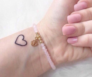 tattoo, heart, and pink image
